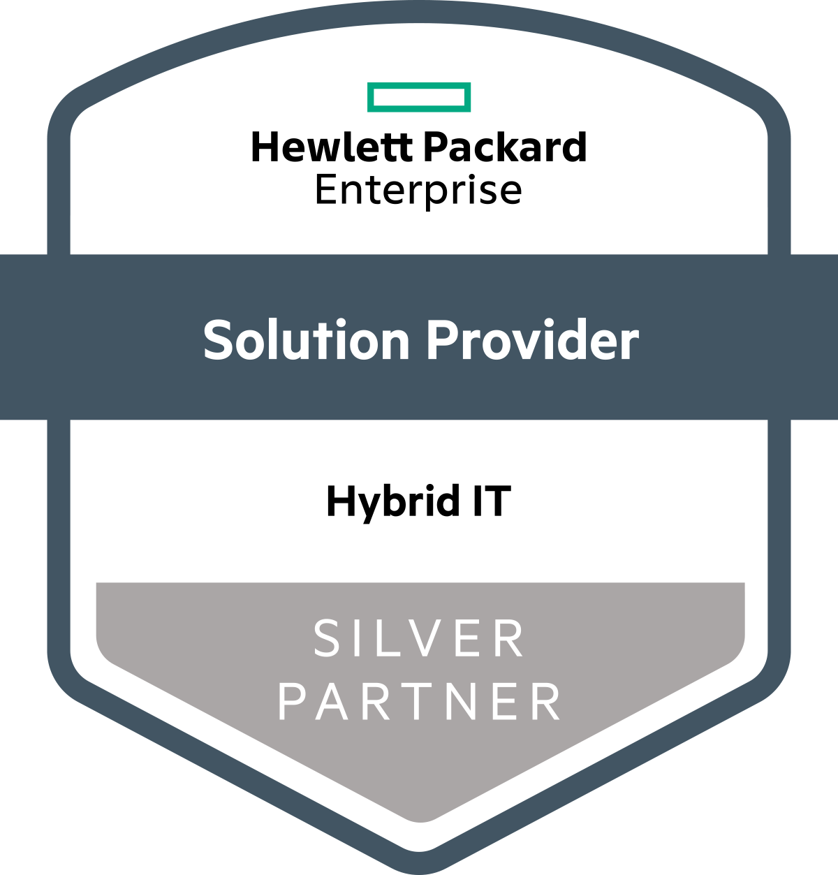 Hewlett Packard Enterprise - Solution Provider Hybrid IT Silver Partner